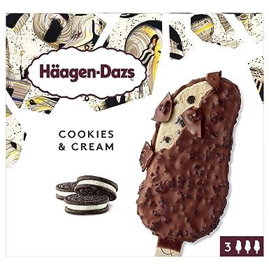 Häagen-Dazs Bombones de Helado Cookies & Cream - Pack de 3 x 70 gr
