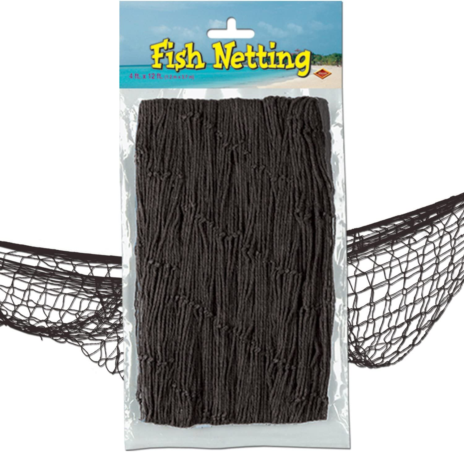 Beistle Decorative Fish Netting, 4 by 12-Feet, 1 Piece