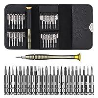 Mini Cacciaviti, Set Cacciaviti di Precisione Kit Cacciaviti 25 in 1 Kit Riparazione per Occhiali,Smartphone, iPad,Tablet,Cellulare,PC, Laptop,Elettronica