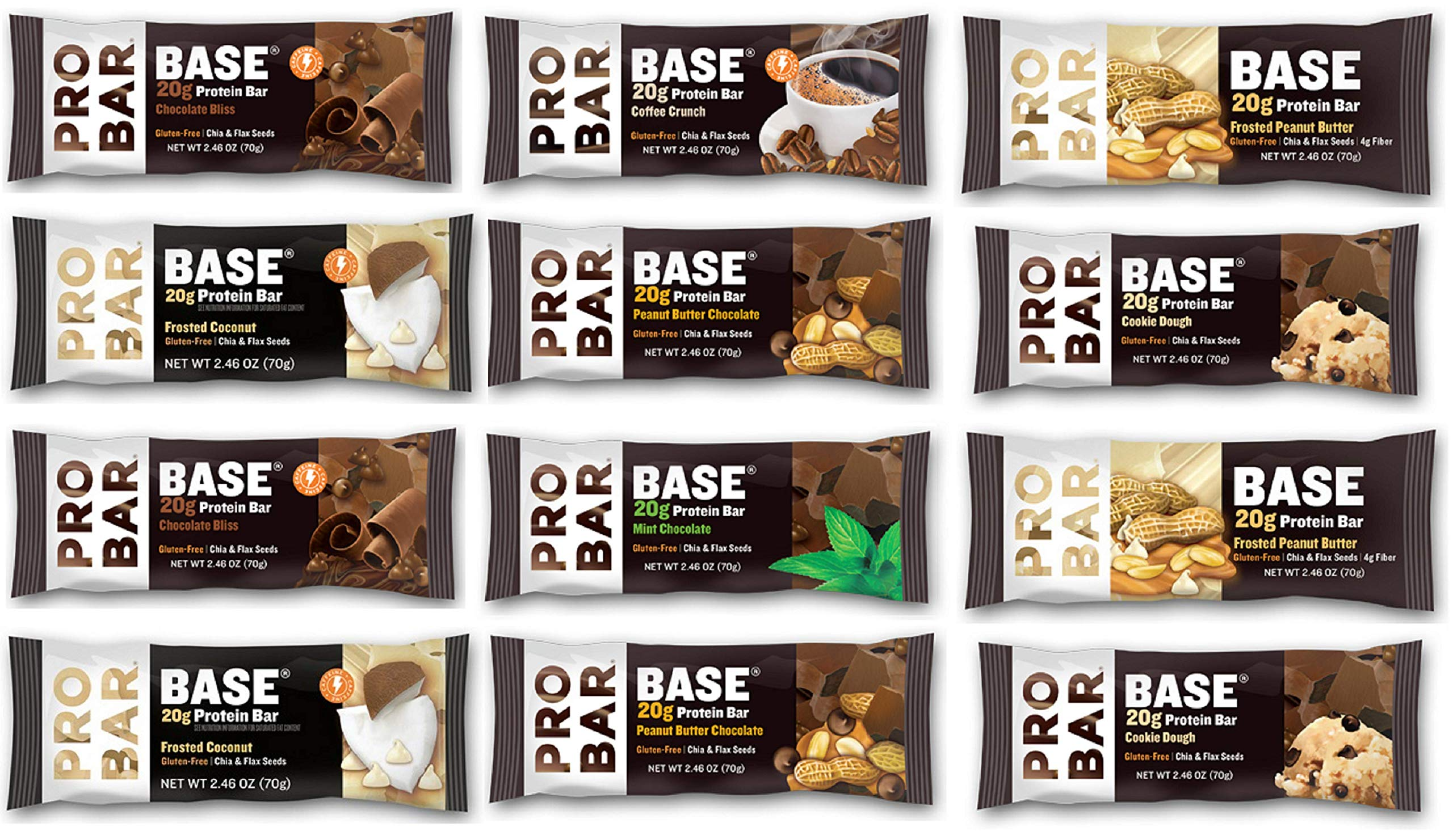 ProBar Base Bar - Sampler Variety Pack - ( Pack Of 12), 2.46 Ounce