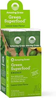 product image for Amazing Grass Green Superfood Energy: Super Greens Powder & Plant Based Caffeine with Matcha Green Tea, Lemon Lime, 15 Servings