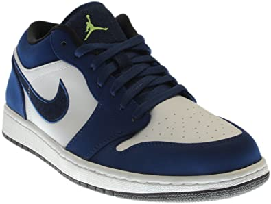 new style 2d122 ea2a4 Jordan Men s Air 1 Low, INSIGNIA BLUE GHOST GREEN-WOLF GREY-BLACK