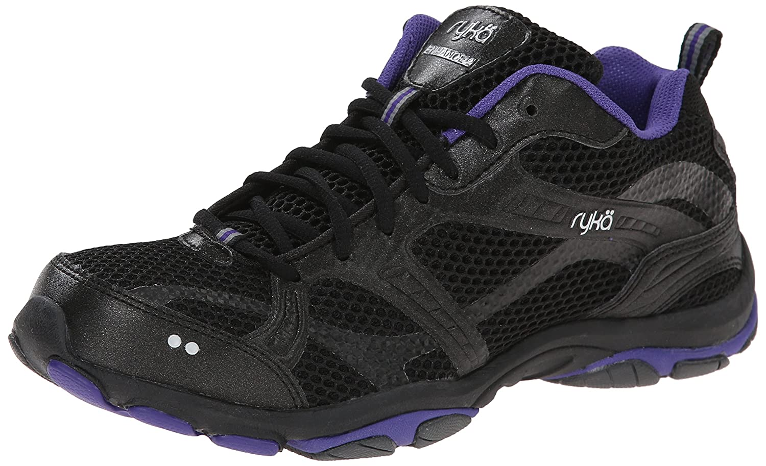 Ryka Women's Enhance 2 Cross-Training Shoe B00JB66XXC 5.5 B(M) US|Black/Purple Rain/Iron Grey/Chrome Silver