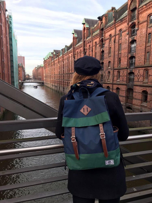 BEAR & GOODIES Trondheim Rucksack, Unisex, für Laptop bis bis bis 15 Zoll, als Daypack, Schulrucksack, die Uni, für Studenten, Office (Schwarz) B07123FNP4 Daypacks Komfortabel und natürlich 73982b