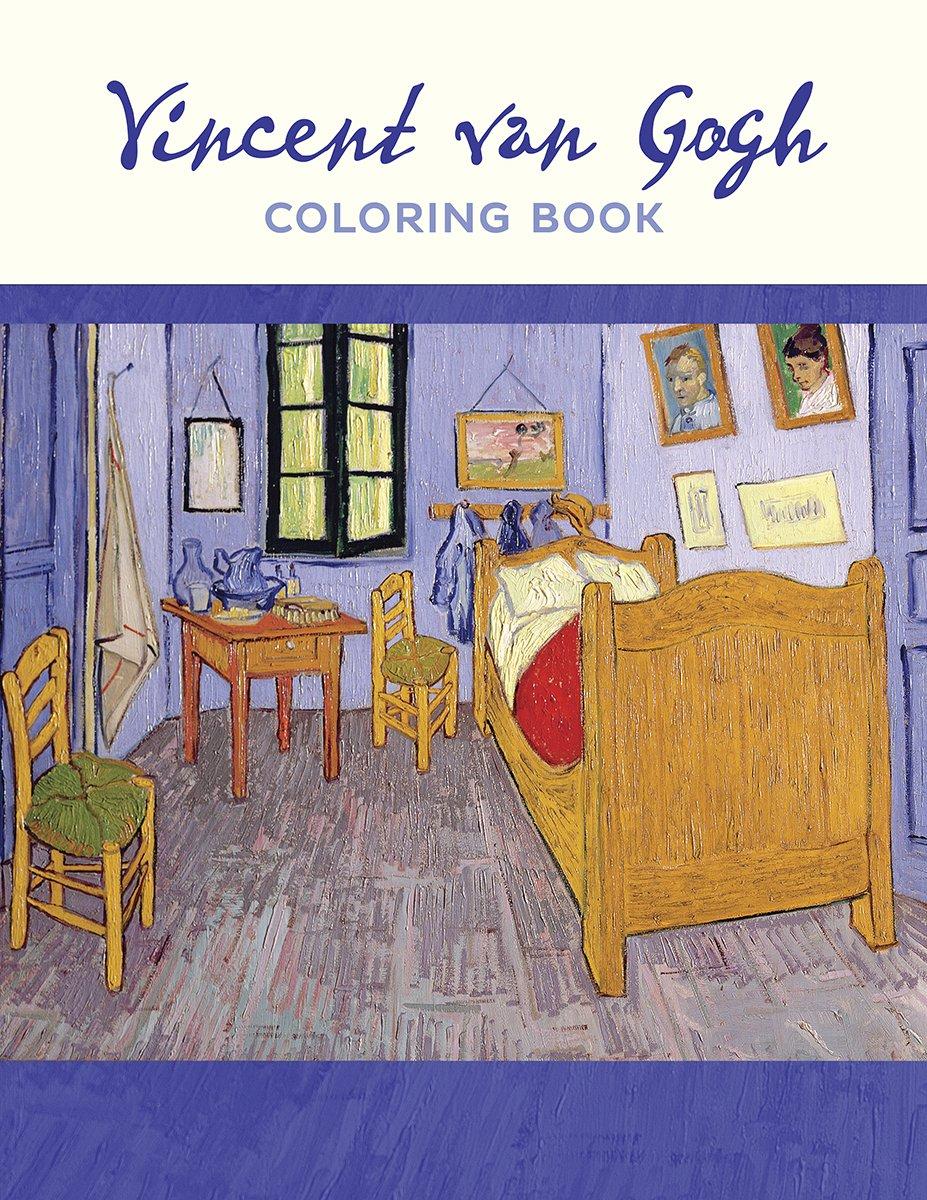 Amazon Com Vincent Van Gogh Coloring Book 9780764979477 Pomegranate Books