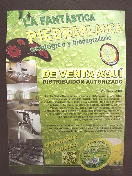 LA FANTASTICA PIEDRA BLANCA ALEMANA PIERRE BLANCHE BOTE 300 GRAMOS (ARCILLA + ESPONJA): Amazon.es: Hogar