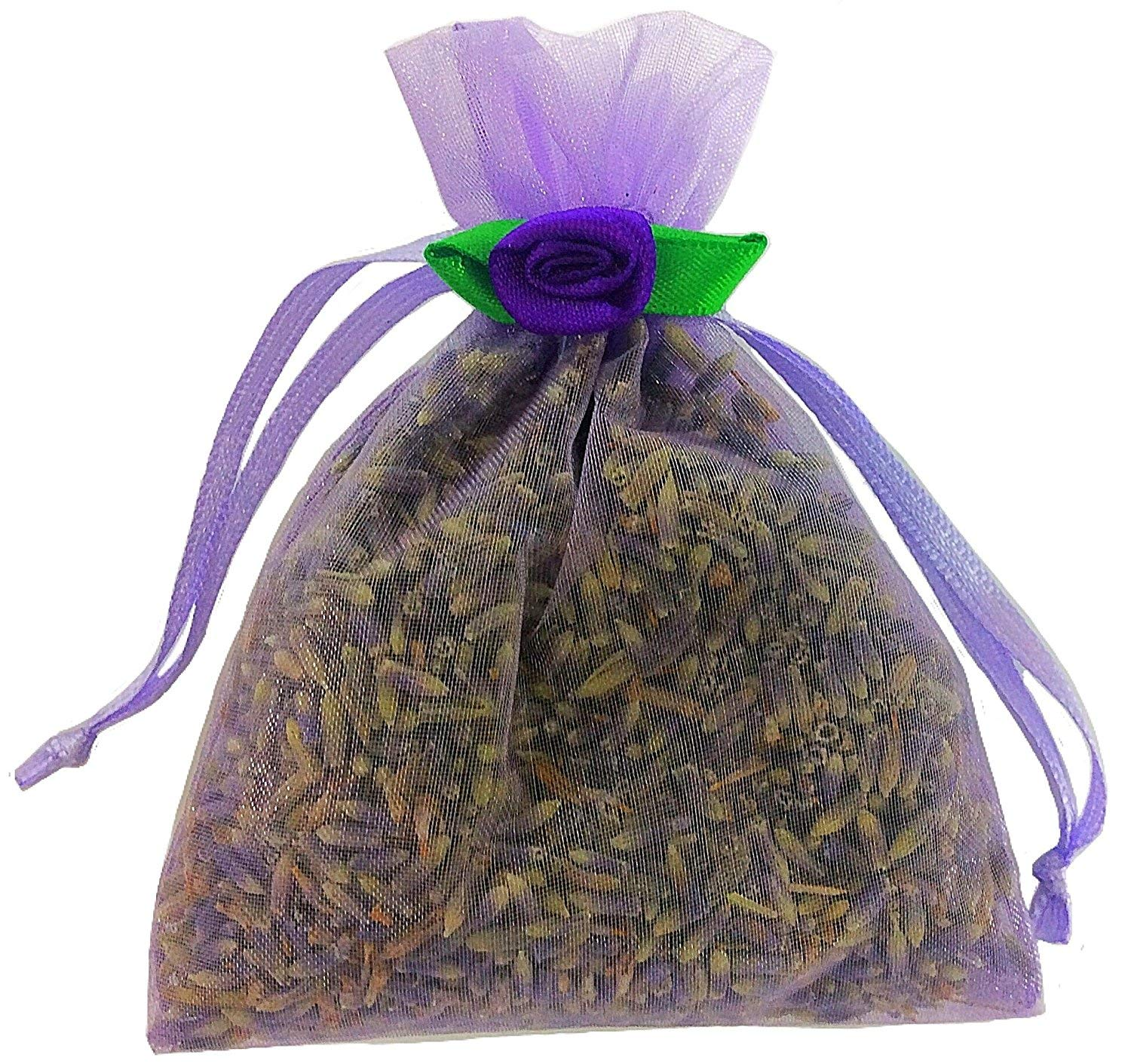 100 Lavender Filled Sachets - Perfect for Special Events - Handmade by Zziggysgal (Lavender with Satin Rosettes) by zziggysgal (Image #5)