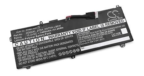 vhbw Litio polímero batería 3400mAh (15.2V) Negro para Ordenador portátil Laptop Notebook como