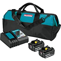 Makita 18V LXT Lithium-Ion Battery and Rapid Optimum Charger Starter Pack (5.0Ah)