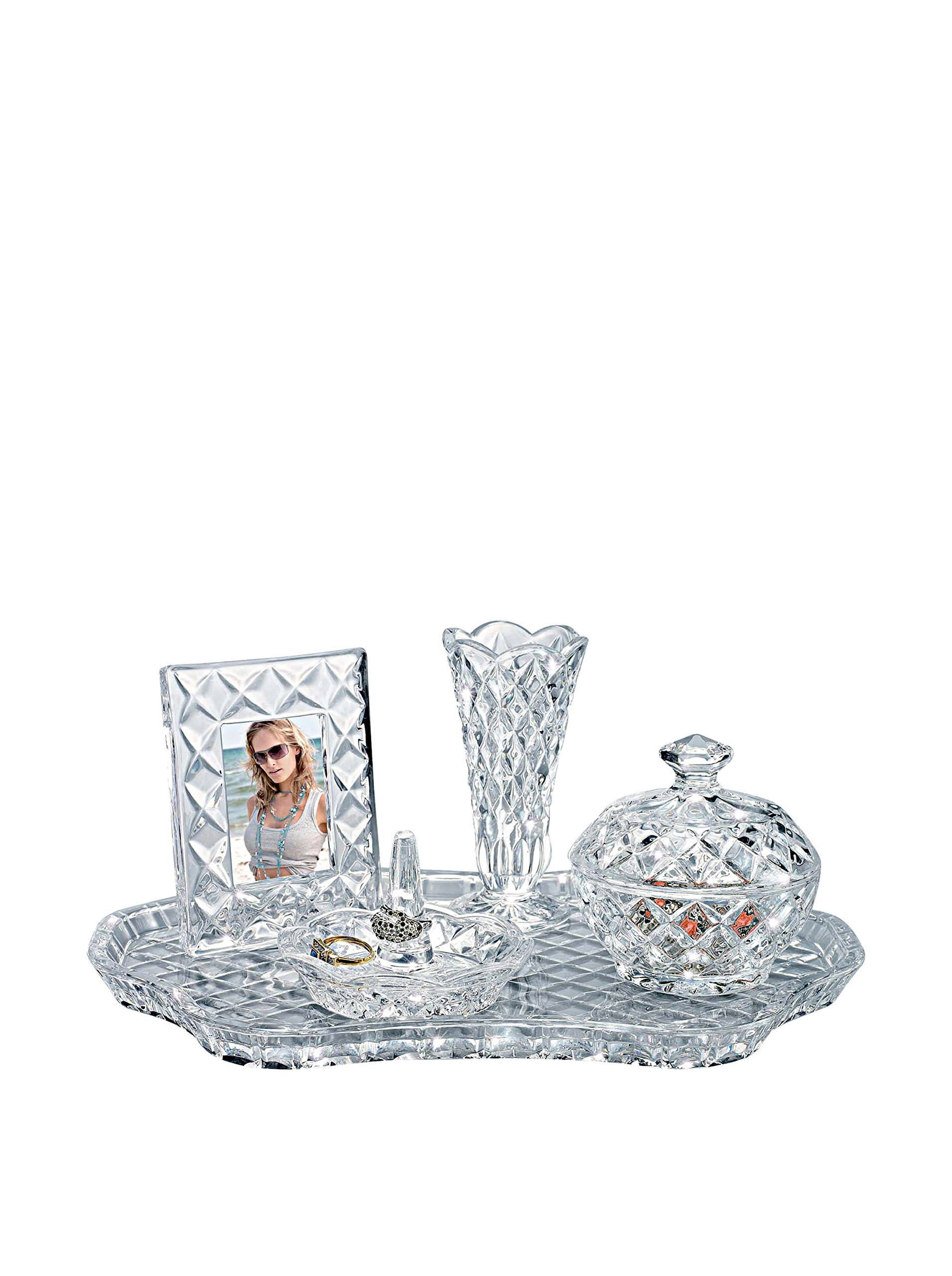Shannon Crystal Vanity Set by Godinger by Godinger