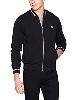 Fred Perry Mens Bomber Neck Sweater