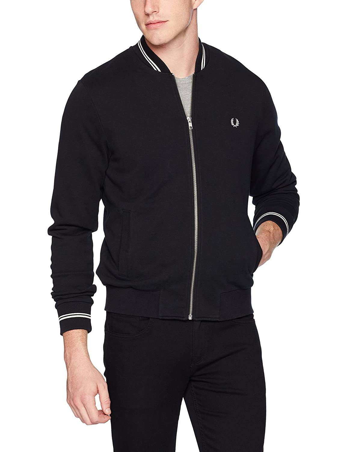 Fred Perry Men's Bomber Neck Sweater Fred Perry Men's Apparel K1355
