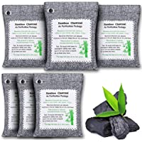 KINGRUNNING Charcoal Bags Odor Absorber (6 Pack, 2.64 lb), Activated Charcoal Bags Natural Air Purifier, Odor Eliminator…