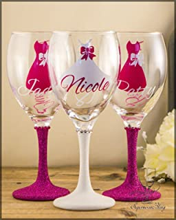 X Personalised Name Vinyl Decal Sticker Wine Glass Cup Mug - Vinyl decals for wine glasses uk