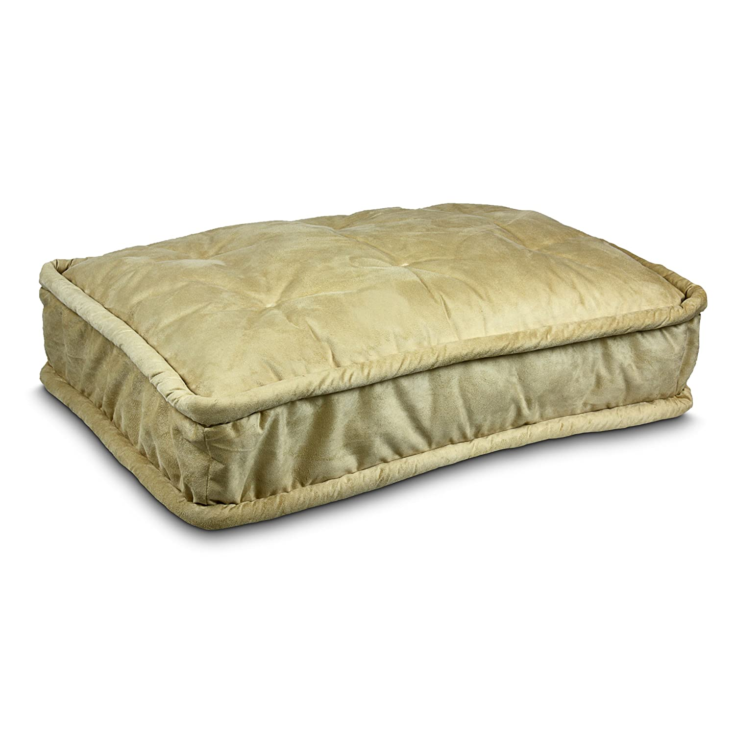 Large Snoozer 42792 Large Pillow Top Pet Bed, Butter