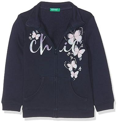 United Colors of Benetton Niñas Jacket Abrigo Not Applicable, Azul (BLU Scuro 13c)