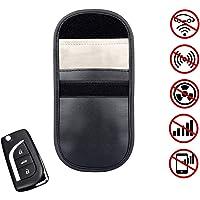 HJY Autoschlüssel Signal Blocker Tasche, Keyless Car RFID Signal Blocker Tasche PU Leder Diebstahlsicherung Keyless Entry Fob Guard für Autoschlüssel