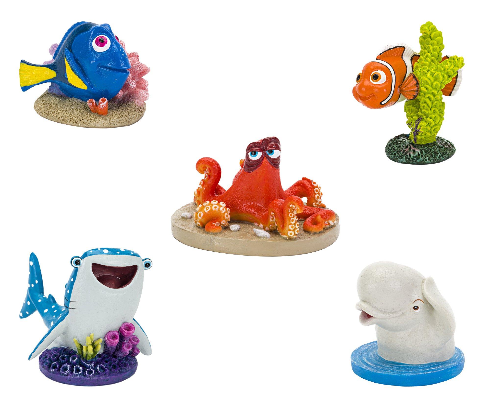Penn Plax Disney Finding Dory, Nemo Set of Five Aquarium Decorations, Medium
