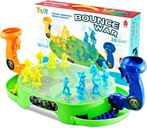 Toy'N Shooting Game Toy for Age 6, 7, 8,9,10+ Years Old Kids - Aim and Shoot Enemy Soldier in Plastic Board Case - The Enemy(Being Shot ) Will Bounce Out of The Battlefield
