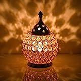 Collectible India Akhand Diya Decorative Brass Crystal Oil Lamp Tea Light Holder Lantern Oval Shape