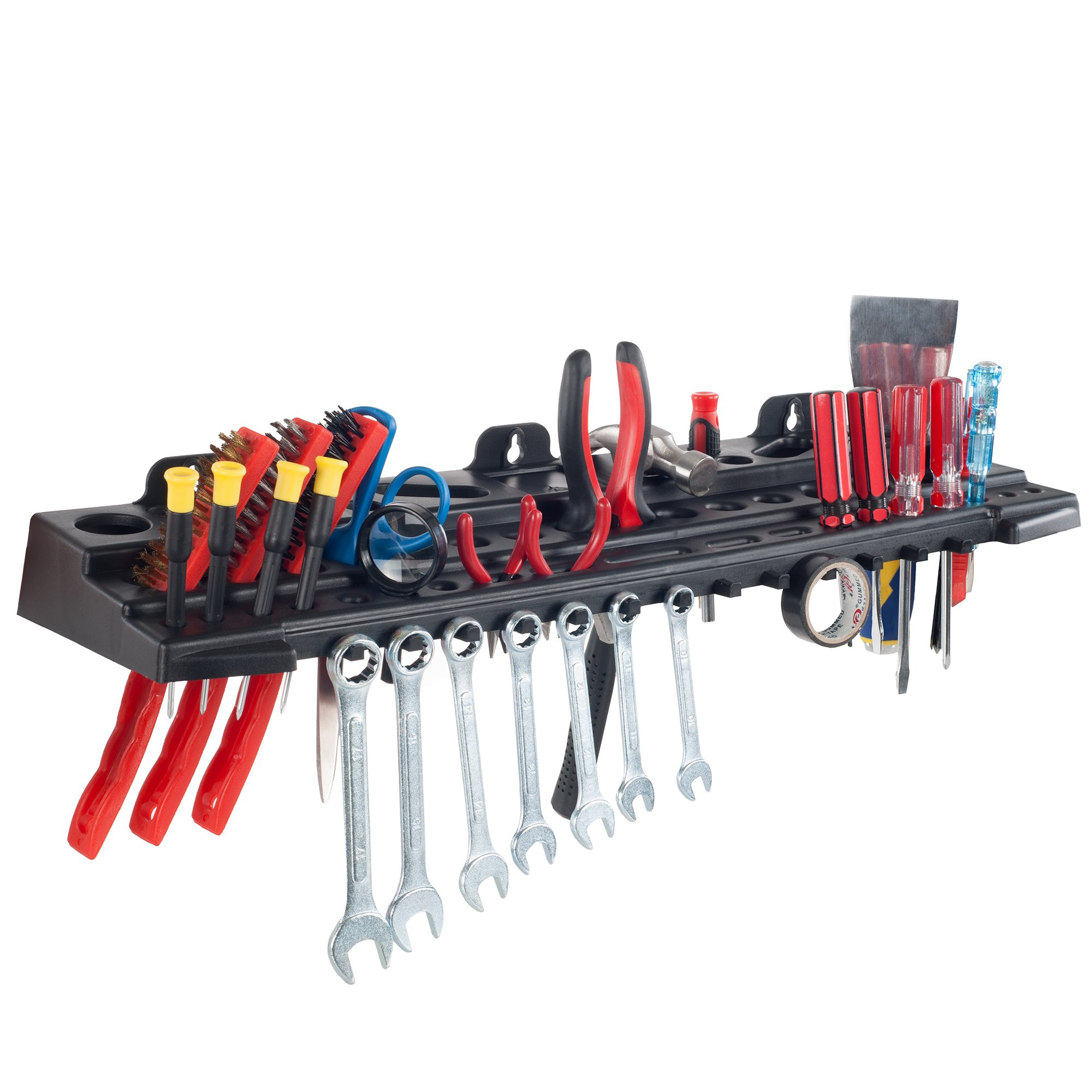 Stalwart Multitool Organizer for Hand Tools, Automotive Tools, and Electric Tools, Wall Mounted Shelf