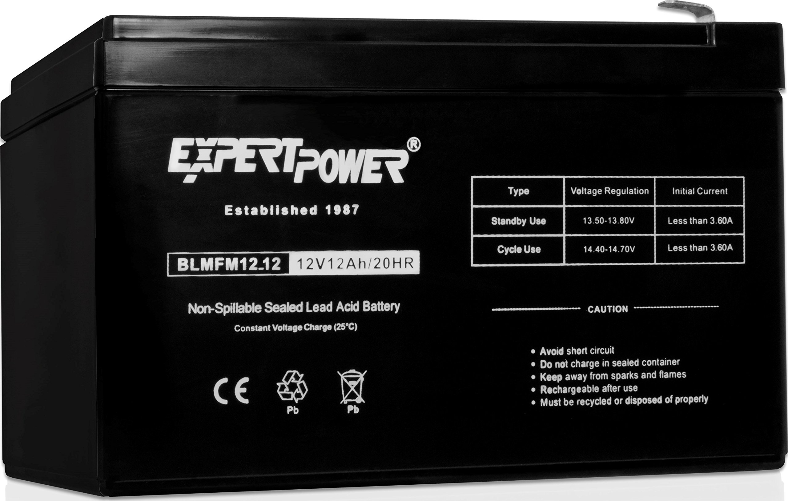 ExpertPower EXP12120 12 Volt 12 Amp Rechargeable battery by ExpertPower