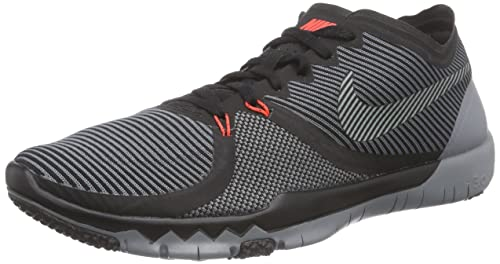 hot sale online 8676a 03a86 Nike Mens Free Trainer 3. 0 V4 Running Shoes (Black, Cool Grey) Sz. 7  Buy  Online at Low Prices in India - Amazon.in