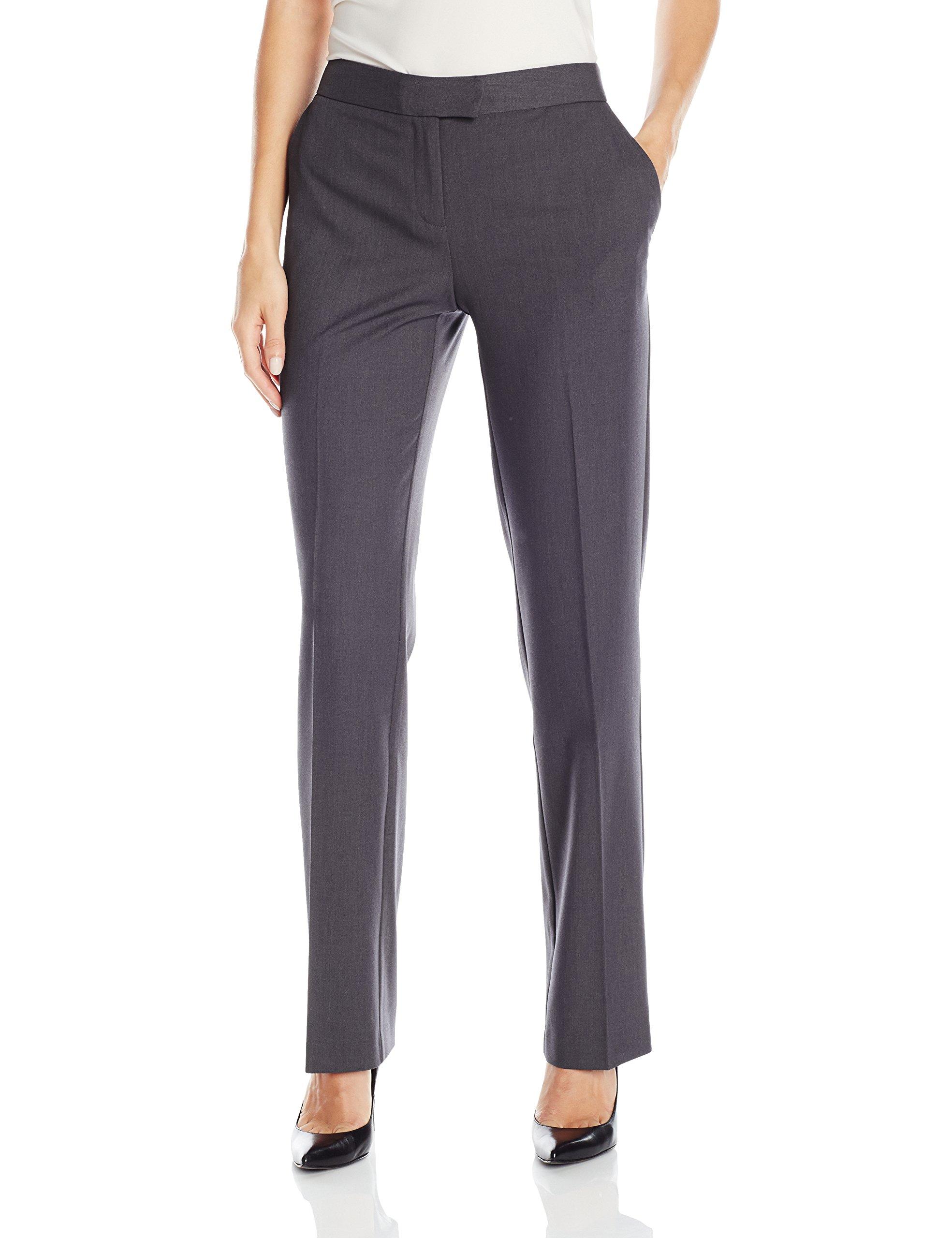Jones New York Women's Sydney Pant, Charcoal Grey Heather, 14