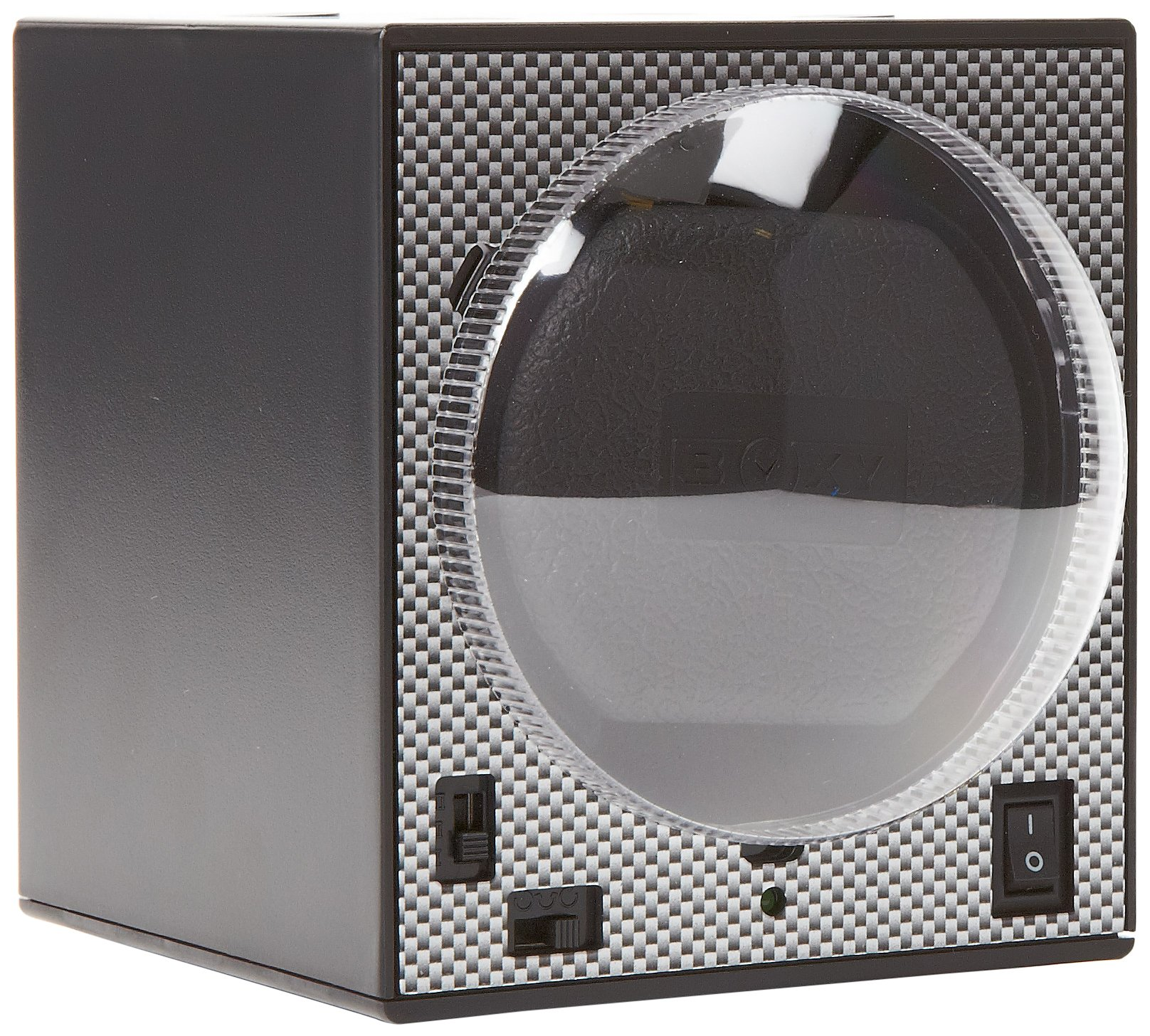 Diplomat Boxy Programmed Carbon Fiber Full System with Adapter Single Brick Stackable Watch Winder