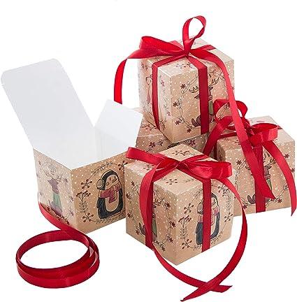 Logbuch-Verlag - Caja de regalo pequeña con lazo rojo animales ...