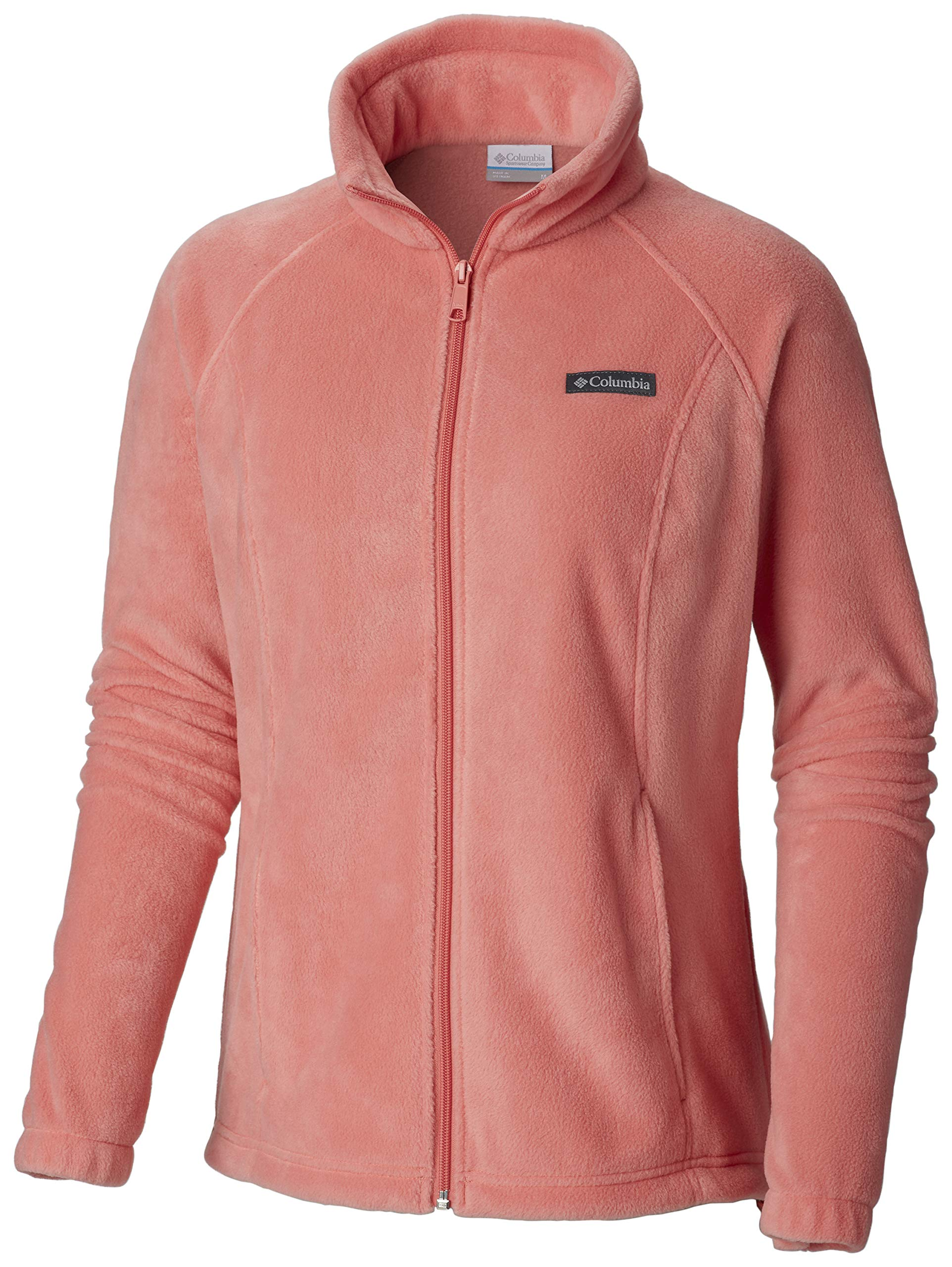 Columbia Women's Benton Springs Classic Fit Full Zip Soft Fleece Jacket, Coral Bloom, Large by Columbia