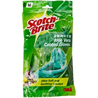 Scotch-Brite Aloe Vera Coated Gloves M, Green