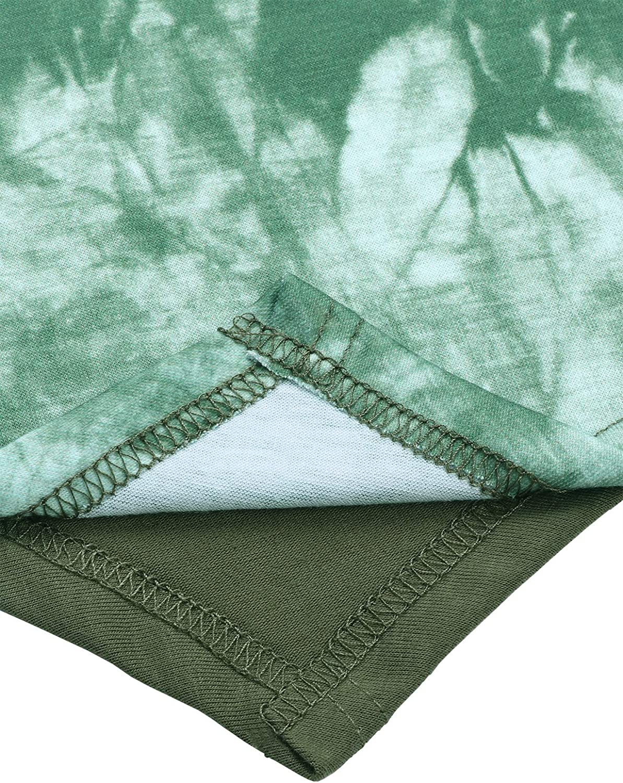 ANGGREK Donna T-Shirt Flowy Maglietta a Maniche Lunghe Tie-Dye Batik Camicia
