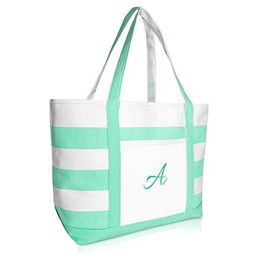 Amazon.com: DALIX Monogram - Bolsa de playa para mujer ...
