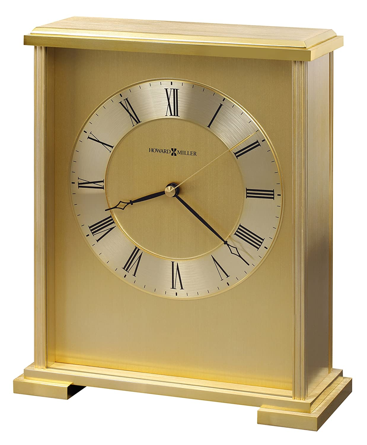 Howard Miller antique brass table clock