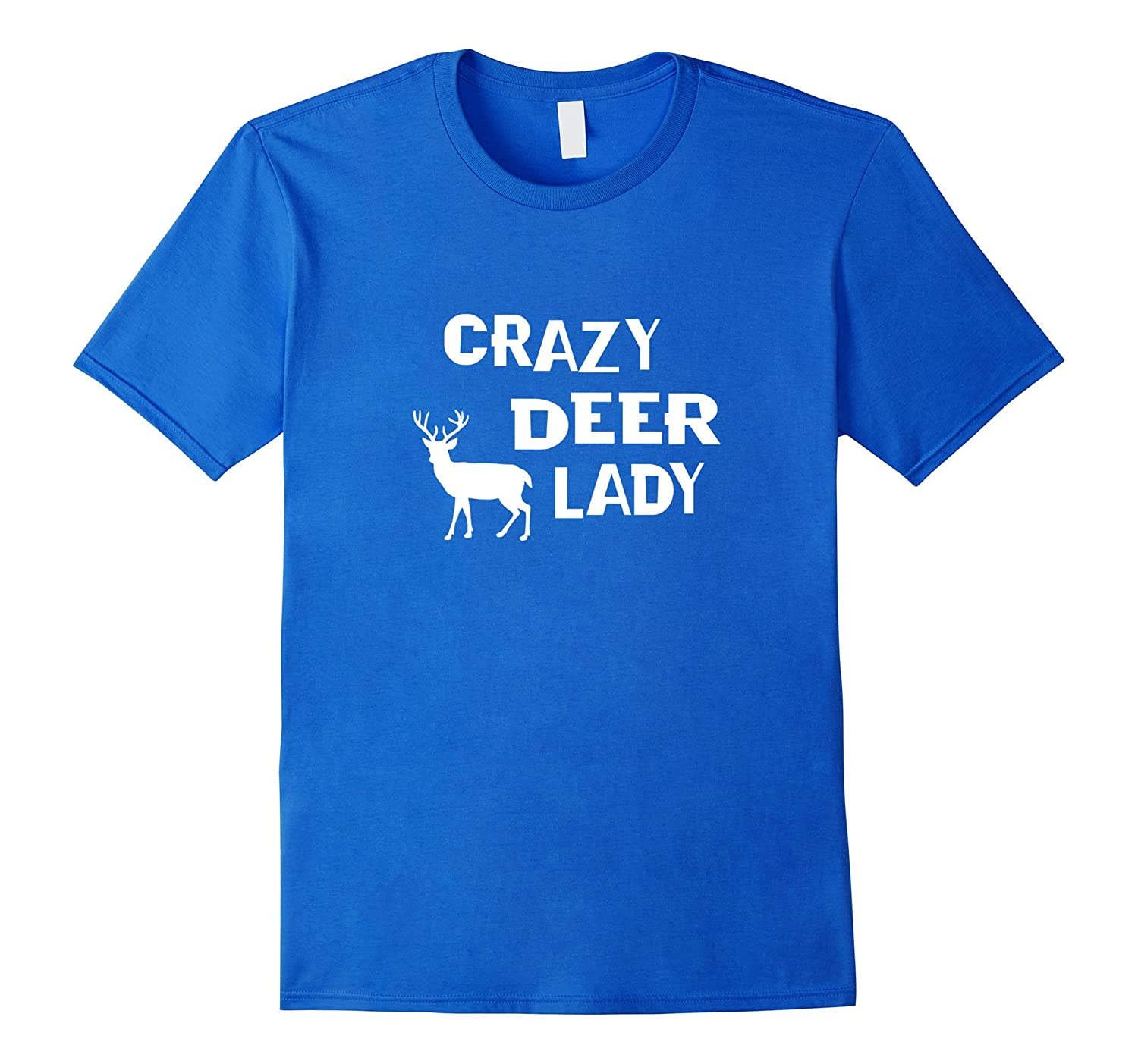 Crazey Deer Lady T-shirt  Bow Hunting Apparel white
