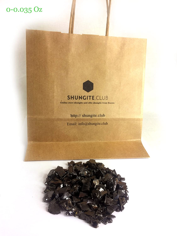 0.1 lb #0.0-0.035 Oz per Stone Russia Shungite Club Elite Shungite Detoxification Stone for Water /& Jewelry Making All Fraction