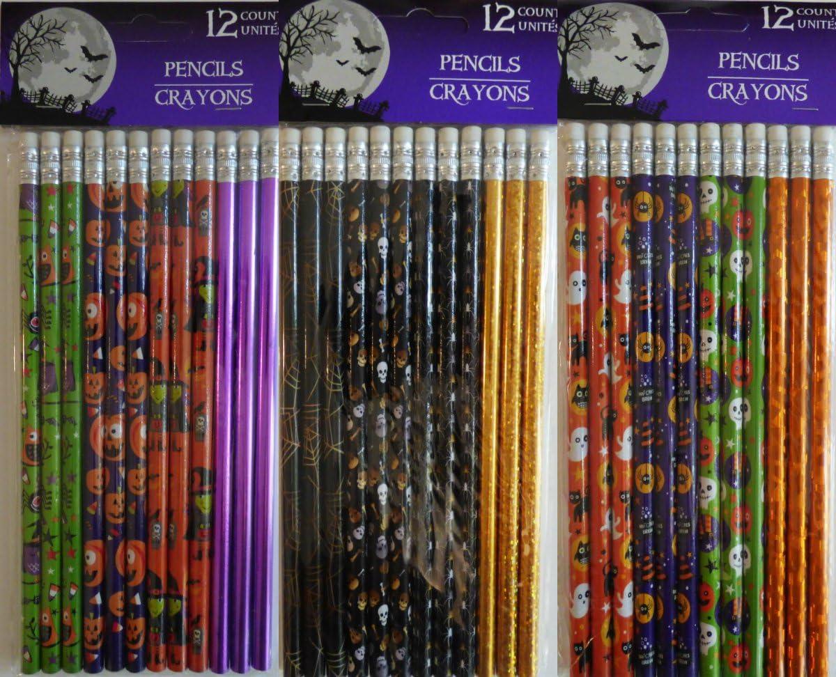 12 Count Halloween Themed Pencils