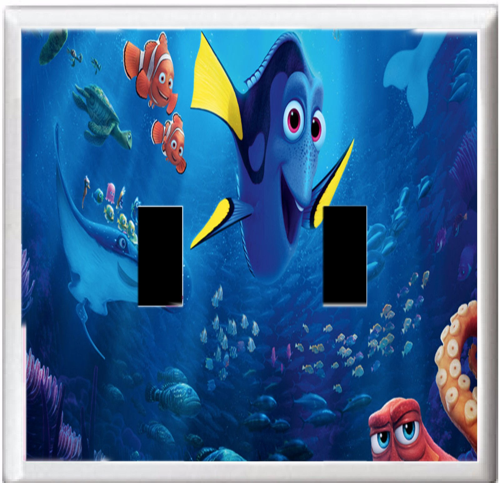 GOT YOU COVERED FINDING DORY AND FRIENDS LIGHT SWITCH COVER OR OUTLET (2x Toggle Option 4)