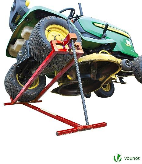 VOUNOT Levantador de césped | Siéntate en la cortadora de césped Jack | Elevador telescópico del cortacésped | Dispositivo de elevación 400KG para | ...
