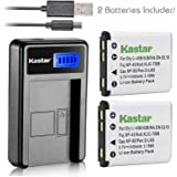 Kastar Battery (X2) & LCD Slim USB Charger for Nikon EN-EL10 MH-63 and Nikon Coolpix S60, S80, S200, S210, S220, S230, S500, S510, S520, S570, S600, S700, S3000, S4000, S5100 + More Camera