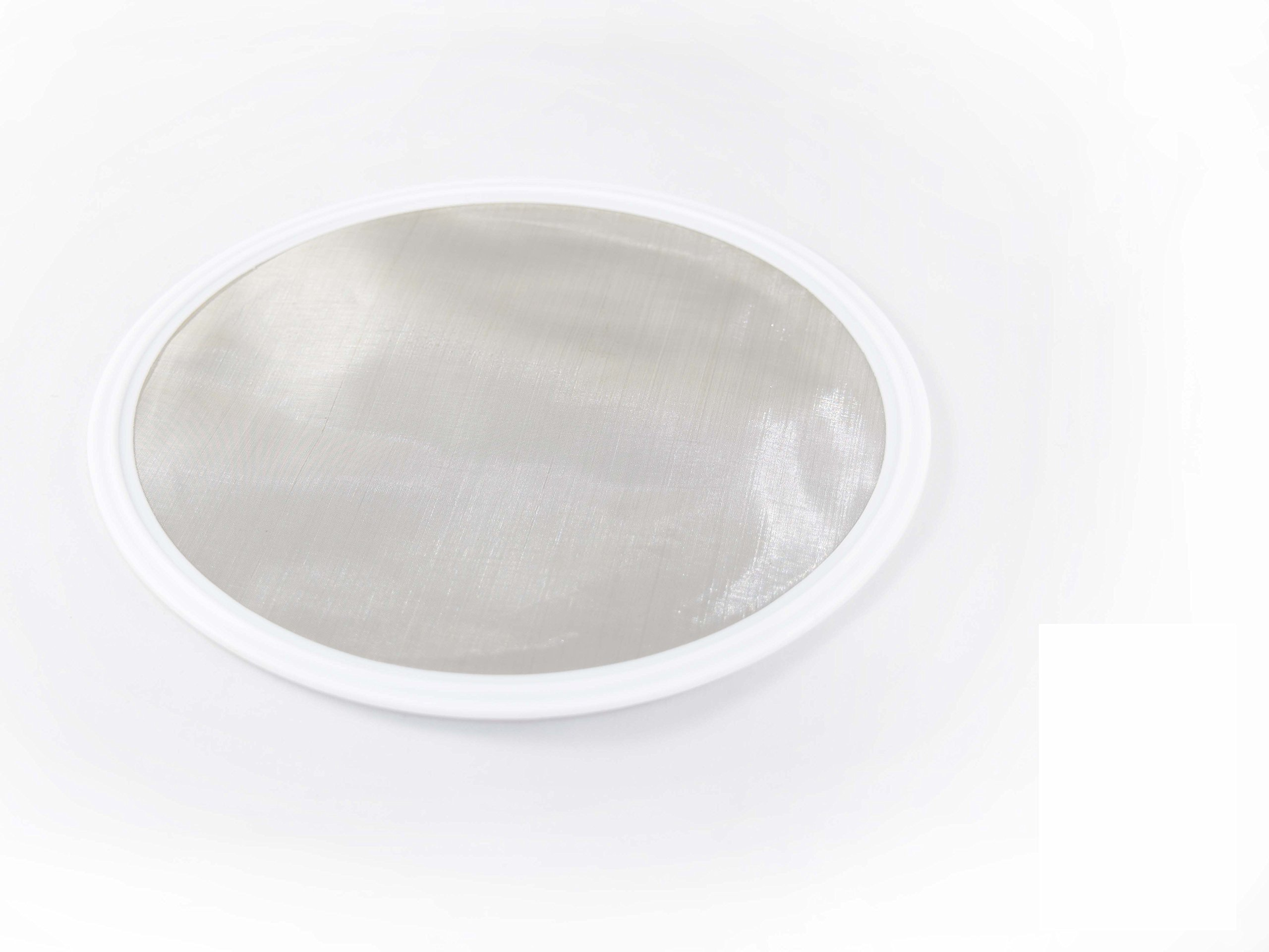 6'' Tri Clamp (Teflon) PTFE Screen Filter Gasket 316L 100Uf Micron Screen Stainless Steel Pharmaceutical Grade Filter Mesh. PTFE Inverted Envelope With Floating Stainless Mesh! With FDA Certification by ARTESIAN SYSTEMS