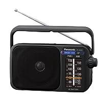 Panasonic RF-2400DEG-K Tragbares Radio mit Griff, Netz- oder Batteriebetrieb schwarz