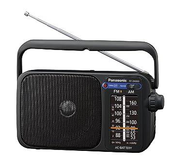 Panasonic RF-2400DEG-K - Radio portátil (770mW, iluminación LED, FM/Am, fácil y Simple de Usar) Color Negro: Amazon.es: Electrónica