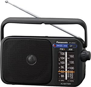 Panasonic RF-2400DEG-K - Radio Portátil FM/Am, (770mW, Iluminación LED, FM/Am, Fácil y Simple de Usar, Sintonizador Digital, Altavoz Amplio Rango 10 cm, Asa para Transportar) Color Negro: BLOCK: Amazon.es: Electrónica