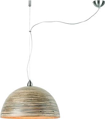 Good&Mojo - Lámpara de techo (madera de bambú), bambú, Dark ...