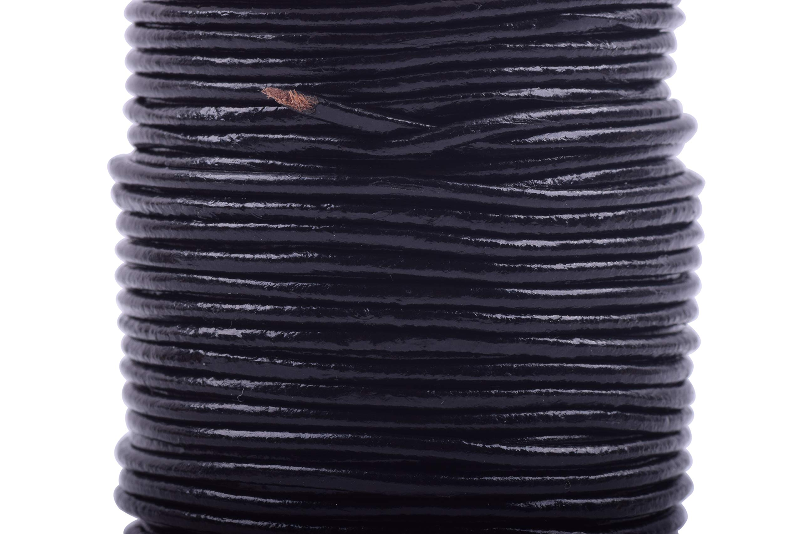 by Greek Crafts 5 mm Black Braided Leather Cord Necklace for Men 21 Women