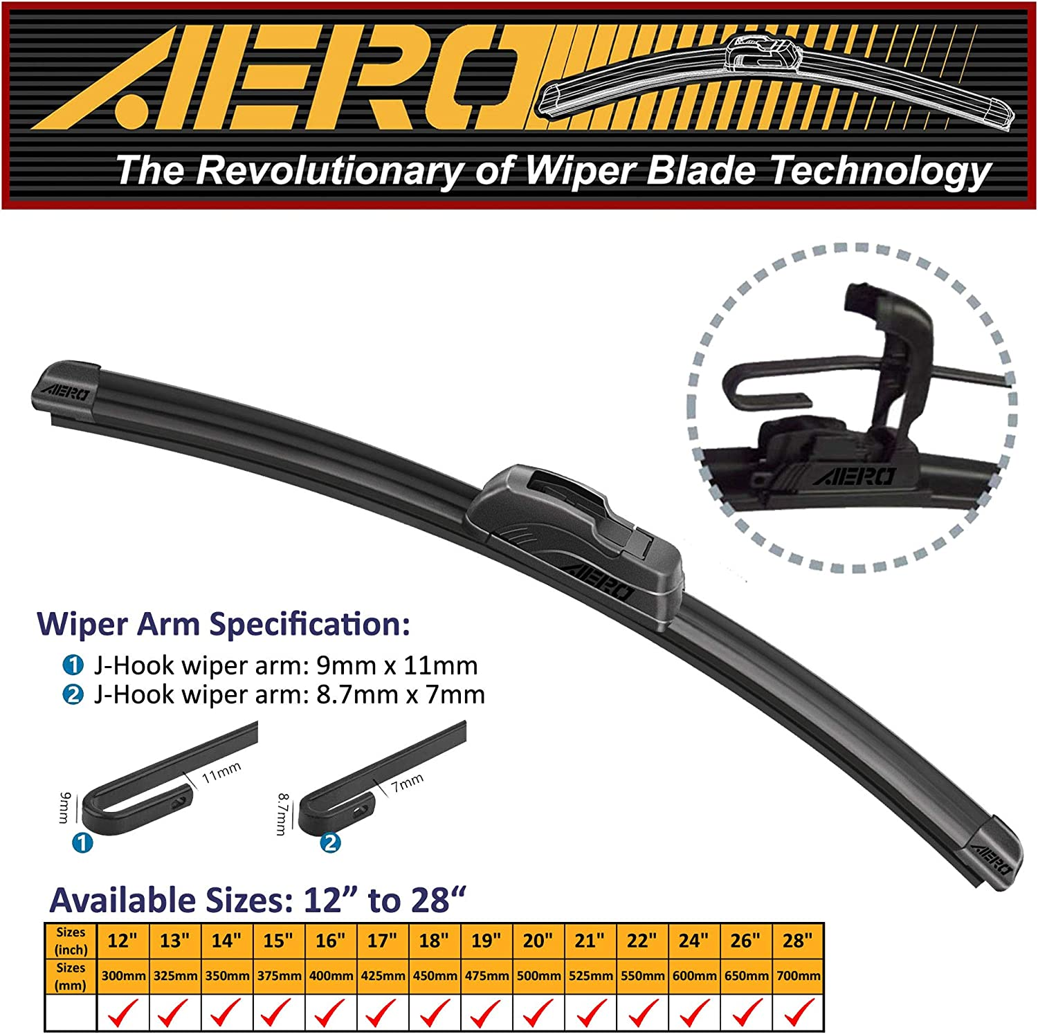 AERO 15 Part No AERO VU Genuine ACP 15 Wiper Blade