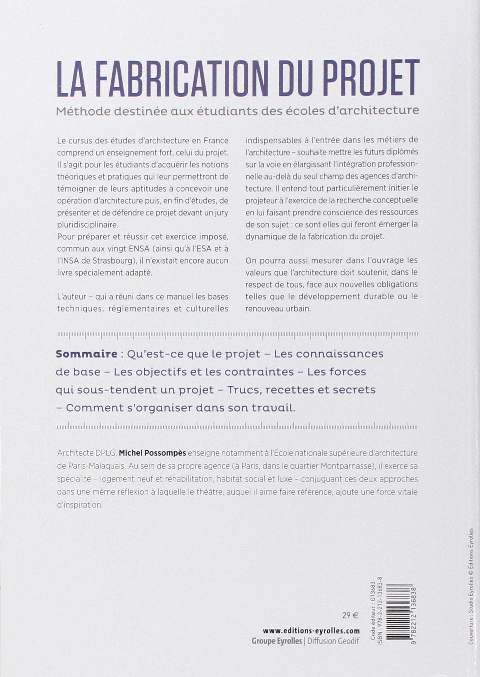 Amazon.fr - La fabrication du projet : Méthode destinée aux ... - Classement Ecole D Architecture