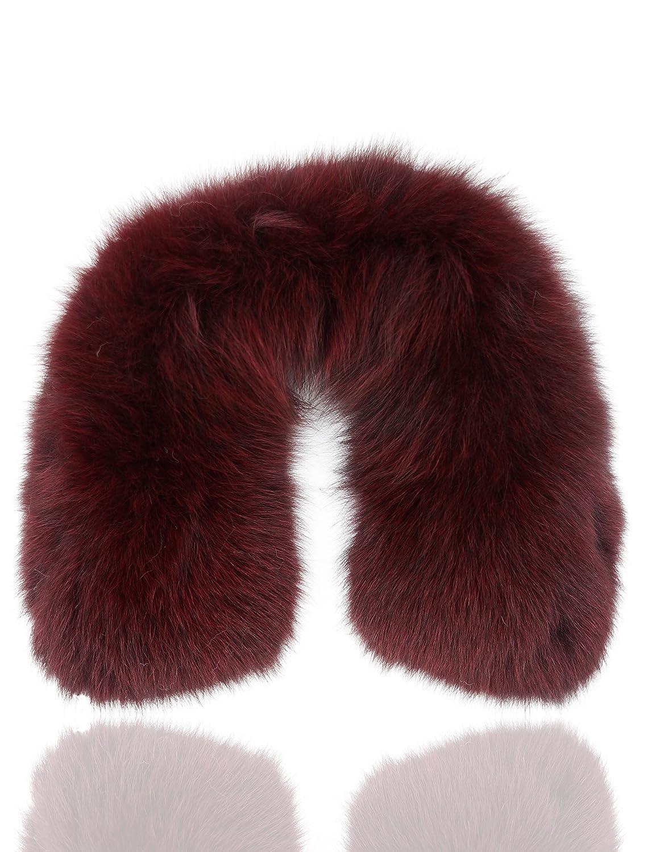 Uilor genuina piel de zorro cuello de la bufanda 60cm Longitud: Amazon.es: Ropa y accesorios